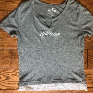 Hollister Crop Top with Lace